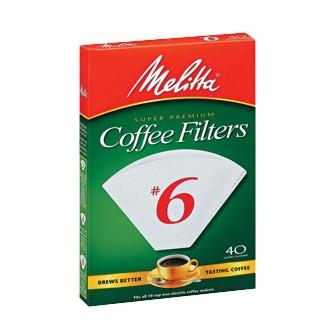 Filters (Melitta No. 6 cone style)