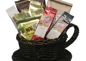 """Caffeine Rush"" coffee/candy gift basket"