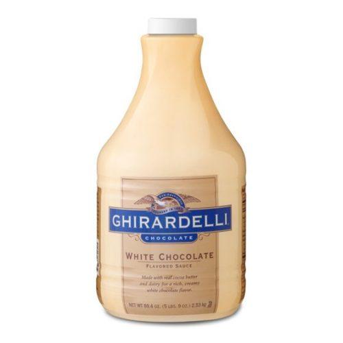 Ghirardelli white chocolate sauce 5-lb bottle