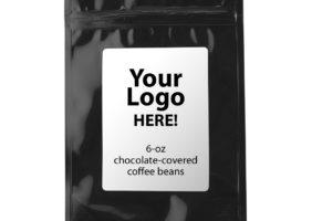 Custom chocolate coffee beans (6-oz)