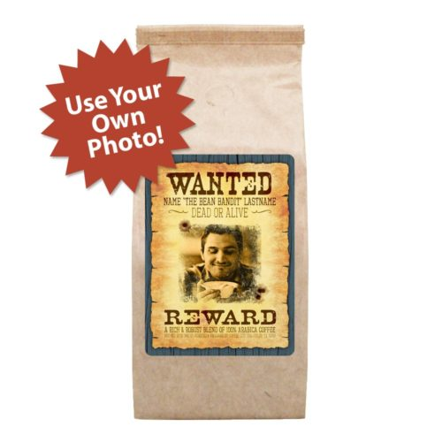 Personalized wanted poster 12-oz bag