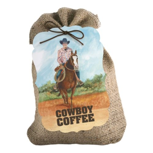 Cowboy Coffee 8-oz burlap