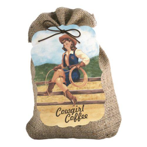 Cowgirl Coffee 8-oz burlap