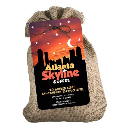 Atlanta Skyline 8-oz burlap