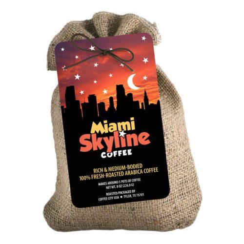Miami Skyline 8-oz burlap
