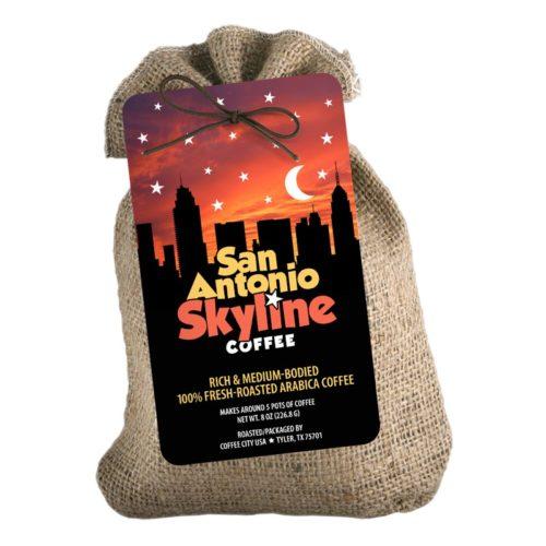 San Antonio Skyline 8-oz burlap